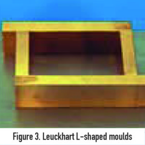 Leuckhart L-shaped moulds