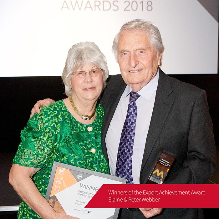 Winners of the Export Achievement Award - Peter & Elaine Webber