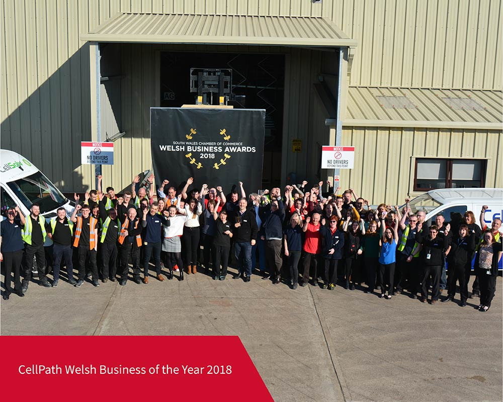 CellPath named Welsh Business of the Year 2018