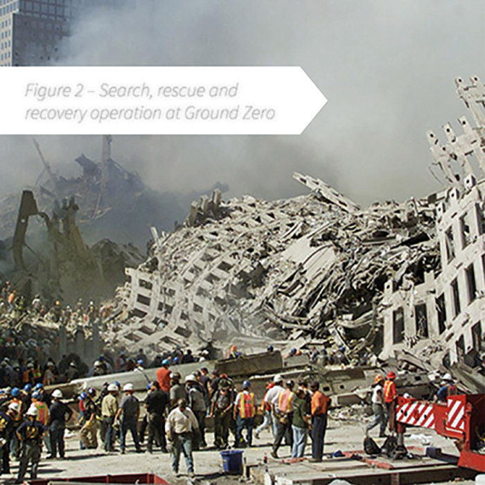 Figure 2 - Search, rescue and recovery operation at Ground Zero on 9/11
