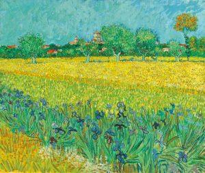 Eosin used in Vincent Van Gough's Field with Irises near Arles painting